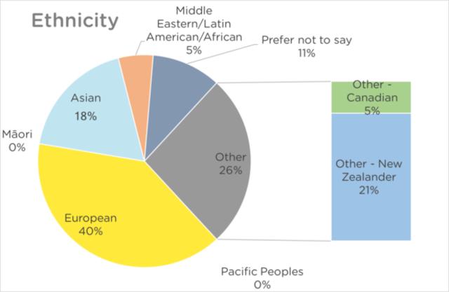 NZRS Staff Diversity Chart - Ethnicity 2017